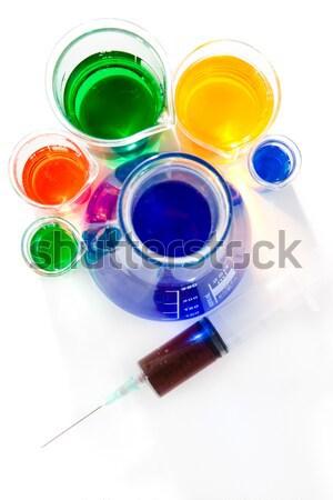 Hat fehér üveg laboratórium kémia vegyi Stock fotó © wavebreak_media