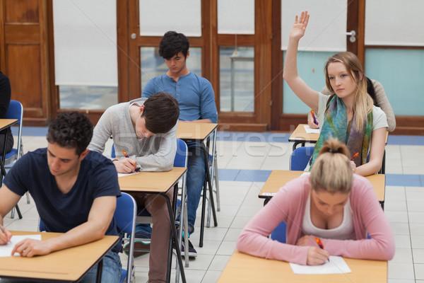 Kadın el sınav salon kolej çalışmak Stok fotoğraf © wavebreak_media