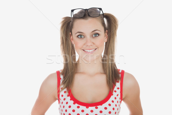 Young woman with long ponytails  Stock photo © wavebreak_media