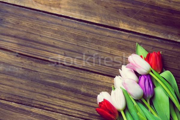 Bunch of tulips  Stock photo © wavebreak_media