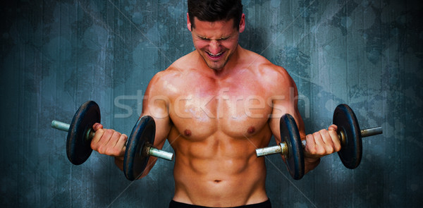 Composite image of bodybuilder lifting dumbbells Stock photo © wavebreak_media