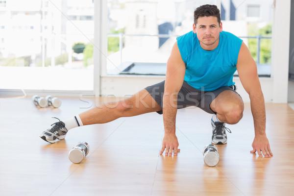 Tam uzunlukta portre adam egzersiz Stok fotoğraf © wavebreak_media