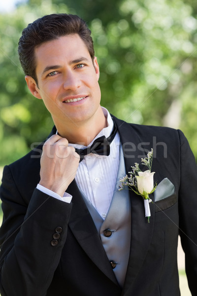 Portrait of nervous bridegroom Stock photo © wavebreak_media