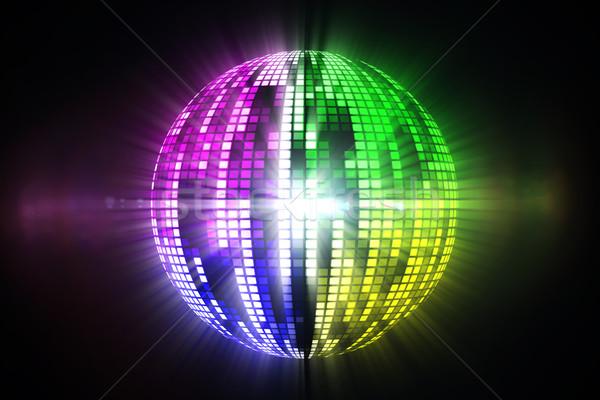 Cool disco ball projektu czarny strony zielone Zdjęcia stock © wavebreak_media