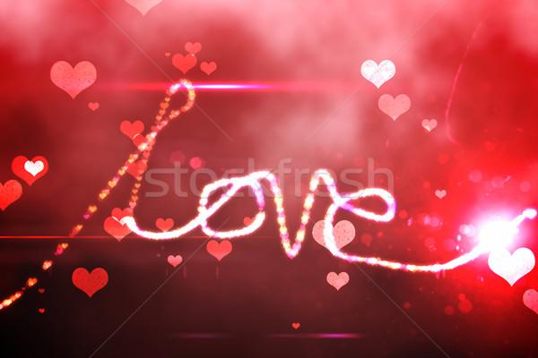 Digitalmente gerado amor vermelho Foto stock © wavebreak_media