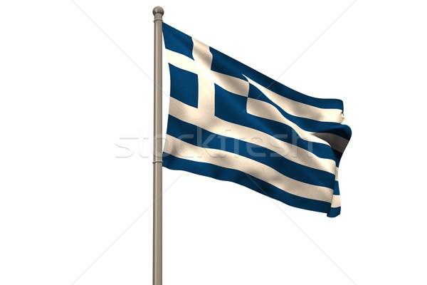 Dijital oluşturulan Yunanistan bayrak beyaz Stok fotoğraf © wavebreak_media