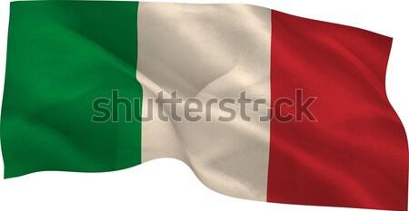 генерируется Италия флаг белый Сток-фото © wavebreak_media