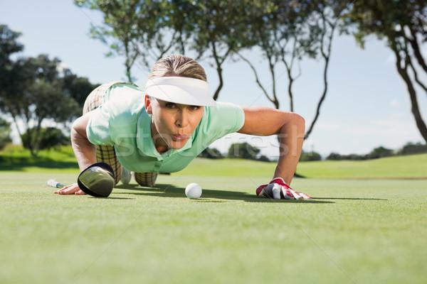 женщины гольфист мяча зеленый Сток-фото © wavebreak_media