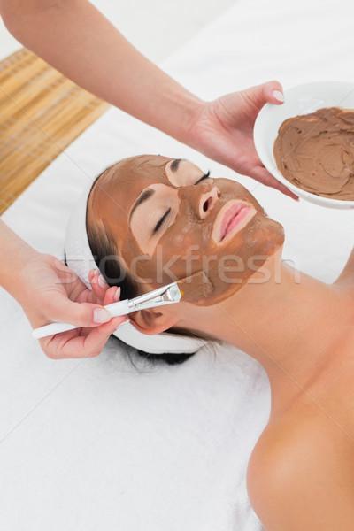 Sorridere bruna fango trattamento donna Foto d'archivio © wavebreak_media