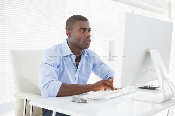 Gericht zakenman werken bureau kantoor computer Stockfoto © wavebreak_media