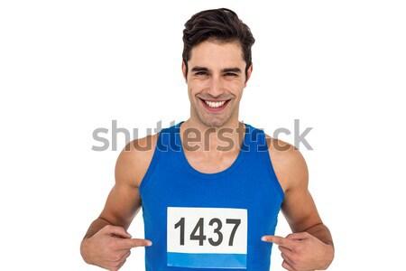 Active senior man jogging on the pier Stock photo © wavebreak_media