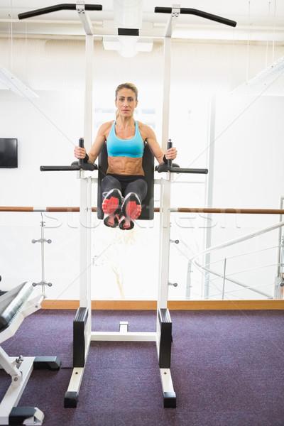 Fitt nő crossfit fitnessz edzés tornaterem Stock fotó © wavebreak_media