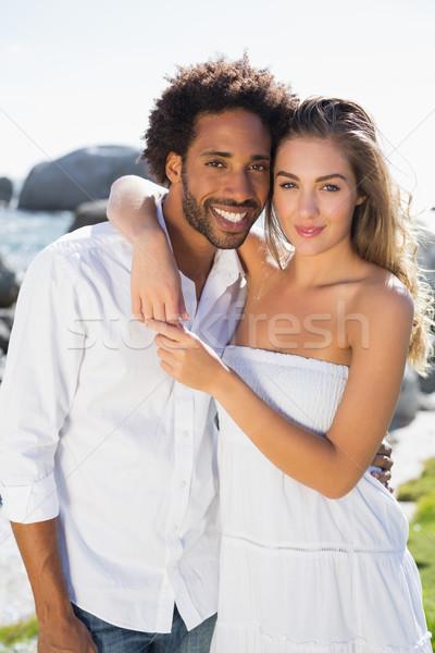 Przepiękny para wybrzeża człowiek Zdjęcia stock © wavebreak_media