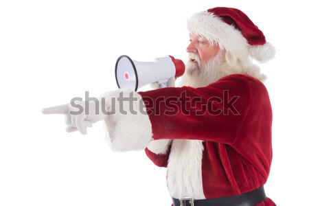 Father Christmas writes a list Stock photo © wavebreak_media