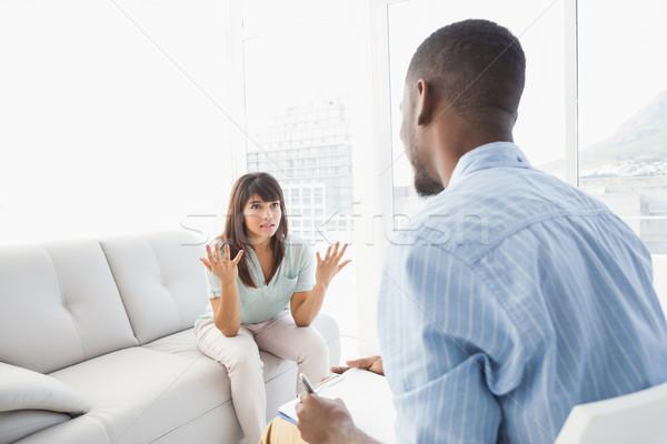 Donna seduta terapeuta guardando terapia uomo Foto d'archivio © wavebreak_media
