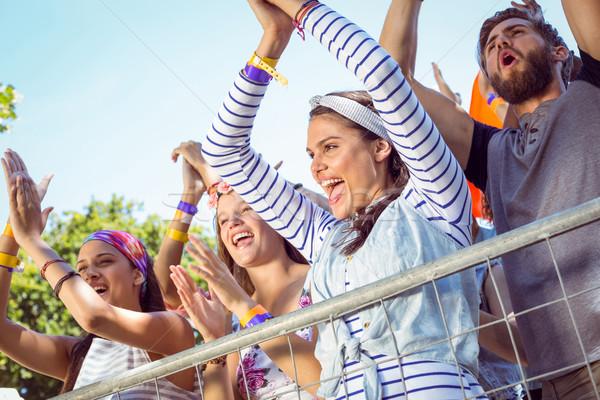 興奮した 音楽 ファン アップ フロント 音楽祭 ストックフォト © wavebreak_media