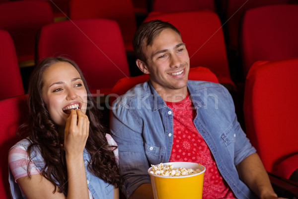 Young couple watching a film Stock photo © wavebreak_media