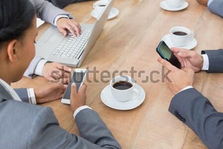 моде студентов Кубок кофе колледжей Сток-фото © wavebreak_media
