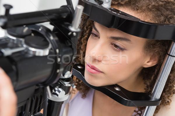 女性 視力検査 医療 オフィス 女性 ケア ストックフォト © wavebreak_media