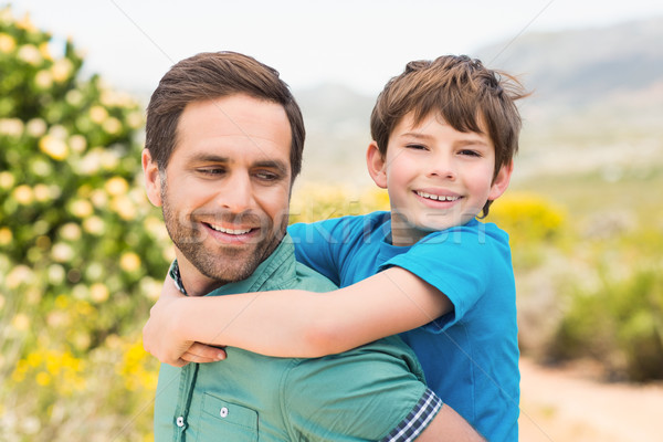 Father and son hiking through mountains Stock photo © wavebreak_media