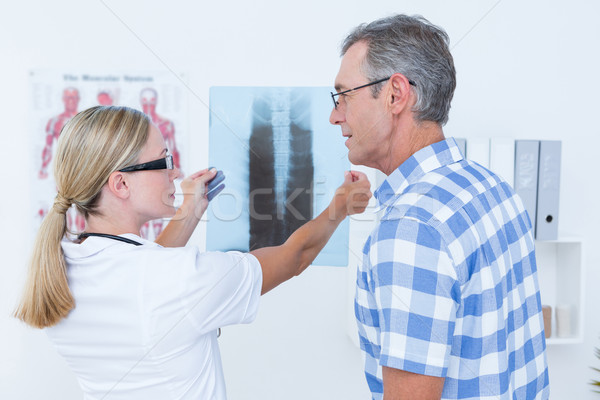врач Лучи пациент медицинской служба Сток-фото © wavebreak_media