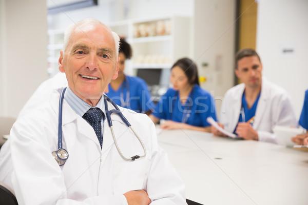 Medici professore sorridere fotocamera classe Università Foto d'archivio © wavebreak_media