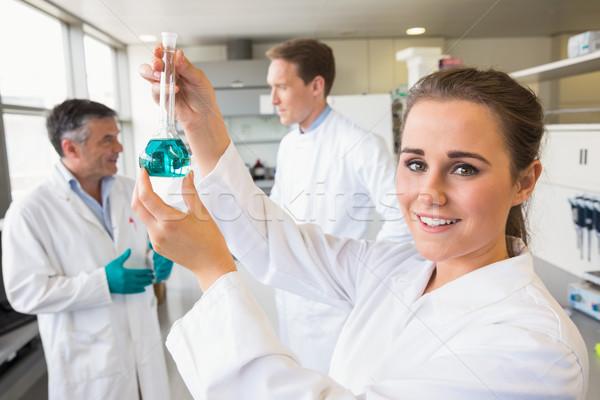Jonge wetenschapper beker laboratorium school Stockfoto © wavebreak_media