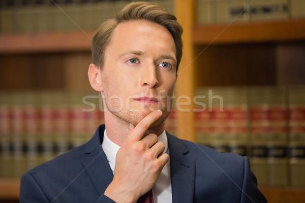 красивый адвокат прав библиотека университета книга Сток-фото © wavebreak_media