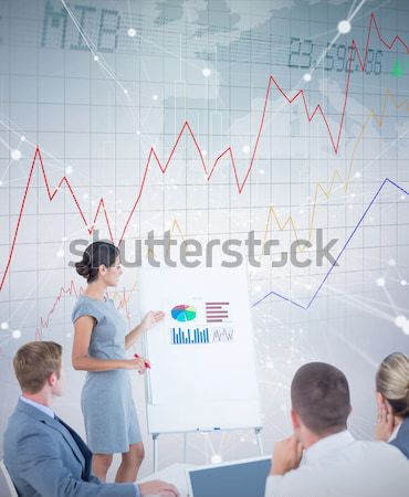 Composite image of manager presenting statistics to her colleagu Stock photo © wavebreak_media
