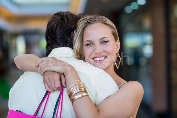Stockfoto: Glimlachende · vrouw · vriendje · portret