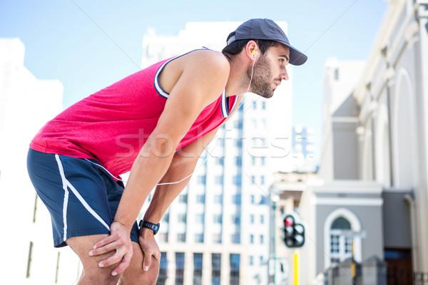 Bitkin atlet ileri çaba Stok fotoğraf © wavebreak_media