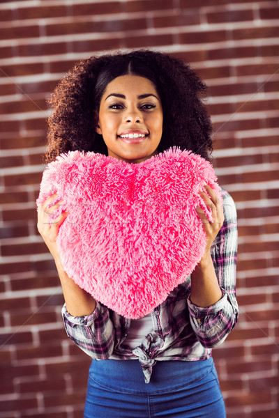 привлекательный подушкой портрет красный Сток-фото © wavebreak_media