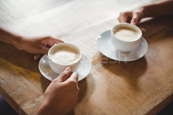 Twee koffie lage tafel hart Stockfoto © wavebreak_media