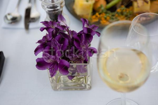 белое вино таблице ресторан мнение Сток-фото © wavebreak_media