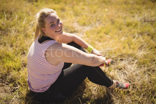肖像 幸せ 女性 リラックス 草 ストックフォト © wavebreak_media