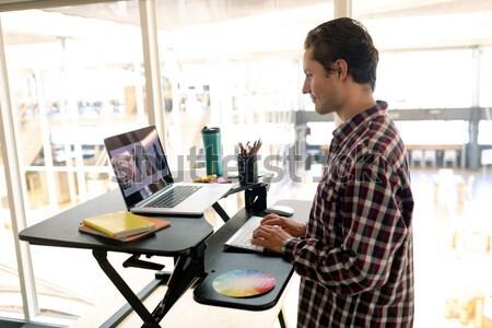 Moda projektant pracy biuro szczęśliwy pracy Zdjęcia stock © wavebreak_media