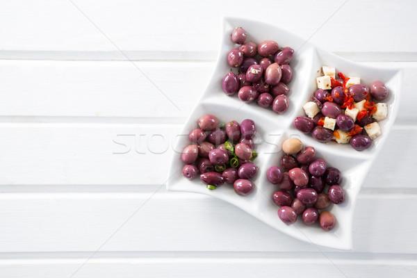 Marinato olive erbe Spice piatto tavola Foto d'archivio © wavebreak_media