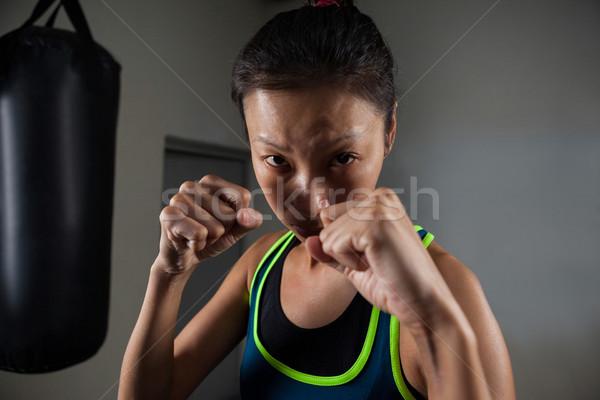 女性 ボクシング フィットネス スタジオ ストックフォト © wavebreak_media