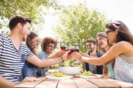 Group of friends toasting champagne glasses Stock photo © wavebreak_media