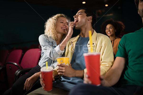 Boldog pár néz film színház férfi Stock fotó © wavebreak_media