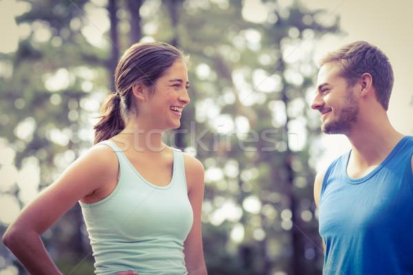 幸せ ジョギング 見える その他 自然 女性 ストックフォト © wavebreak_media