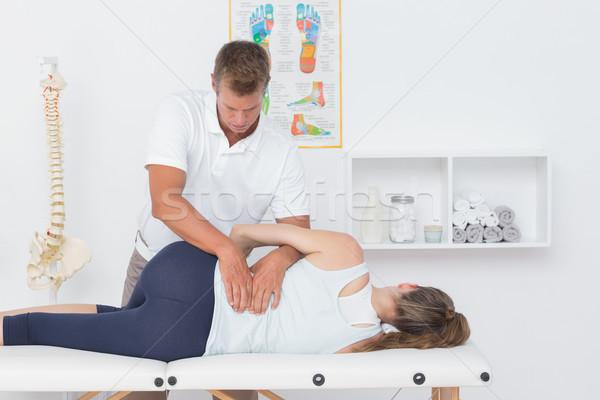 Orvos megvizsgál férfi hát orvosi iroda Stock fotó © wavebreak_media