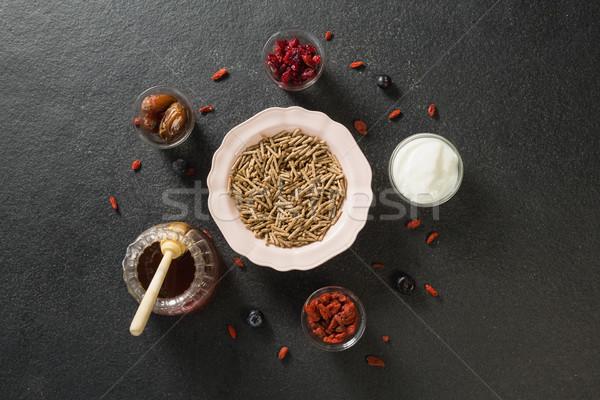 чаши зерновых отруби Stick йогурт меда Сток-фото © wavebreak_media