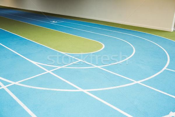 Lopen track gymnasium sport gezondheid Stockfoto © wavebreak_media