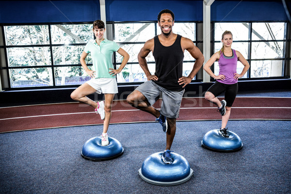 Fit people doing exercise with bosu ball Stock photo © wavebreak_media
