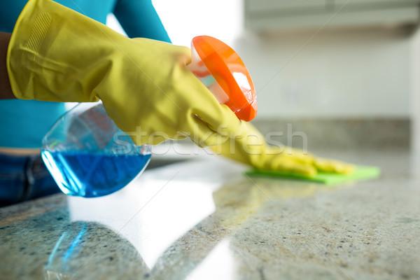 красивая женщина дома работа по дому домой женщину кухне Сток-фото © wavebreak_media
