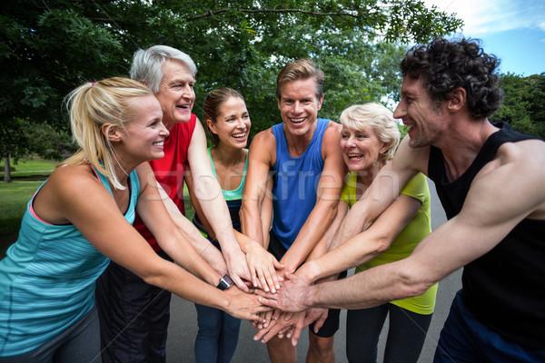 Maratón atleta motivación gesto parque Foto stock © wavebreak_media