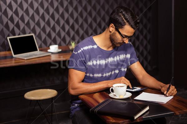 Man taking notes Stock photo © wavebreak_media