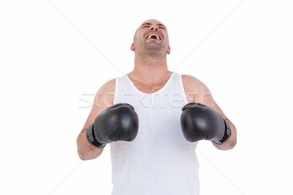 Boxer in boxing gloves laughing Stock photo © wavebreak_media