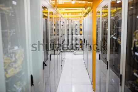 Hallway with a row of servers Stock photo © wavebreak_media